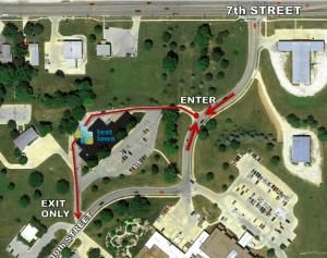 Test Iowa Drive-Thru Map