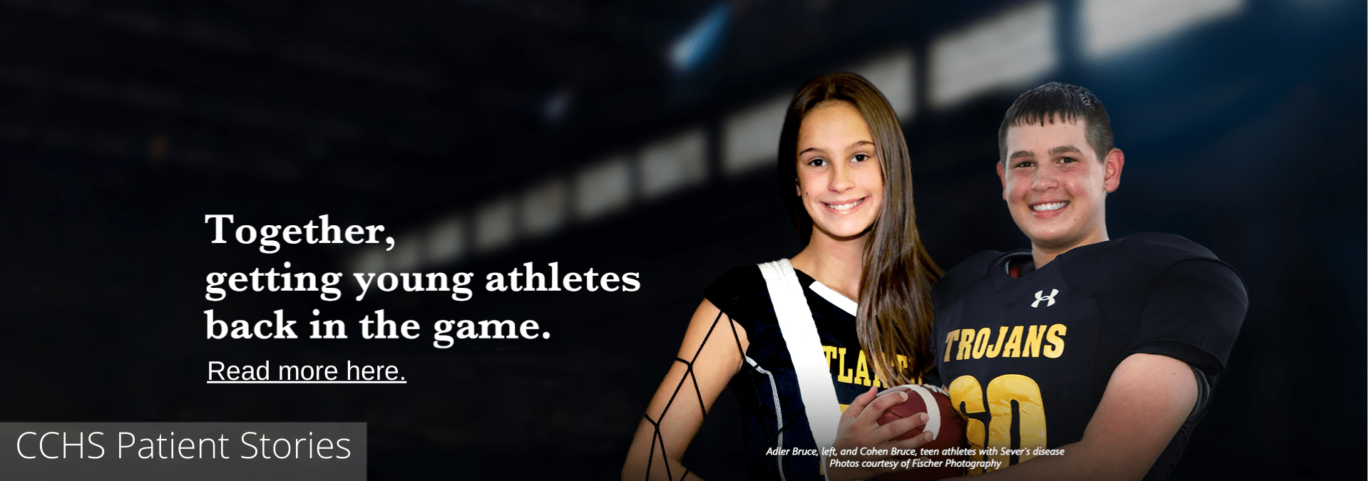 Patient story - The Bruce kids photo of two high school athletes