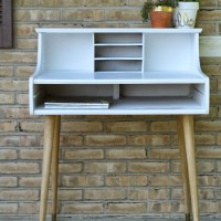 Chic Little Leggy Midcentury Modern Desk