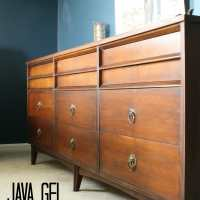 "My ""New"" Java Gel Midcentury Dresser and a Shiny New"