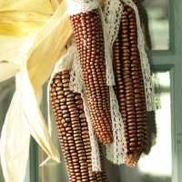 Copper Corn Bohemian Door Hanging