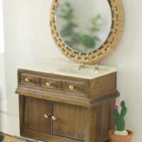 Dollhouse DIYs: Mirror & Door Mat (Swap It Like It's H