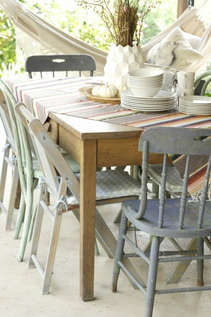 Boho Porch Fall Dining