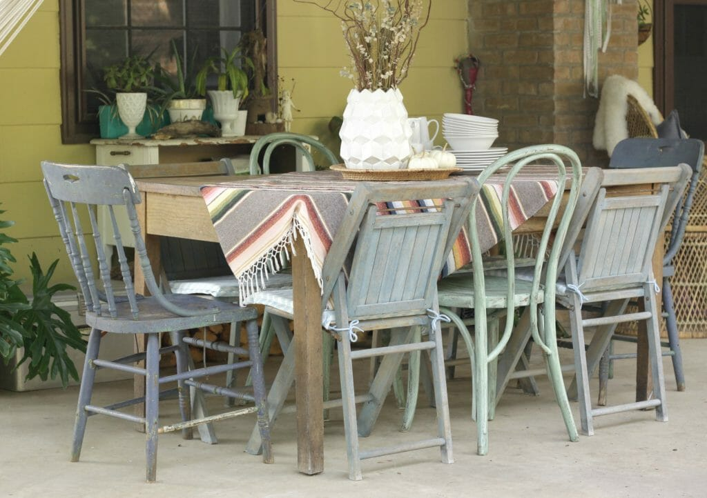 Bohemian Porch Dining