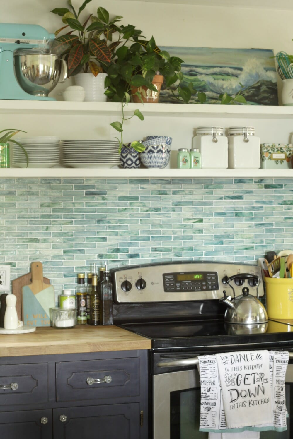 Earthy Vintage Styled Kitchen Shelves (And a Survey!) - Cassie ...