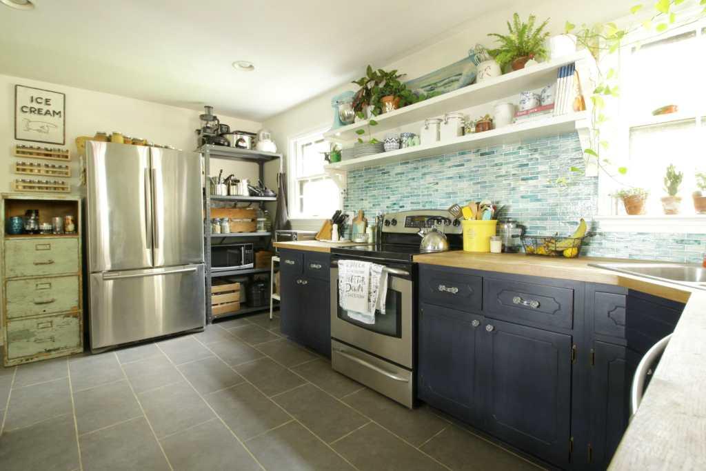 vintage-industrial-eclectic-aqua-kitchen