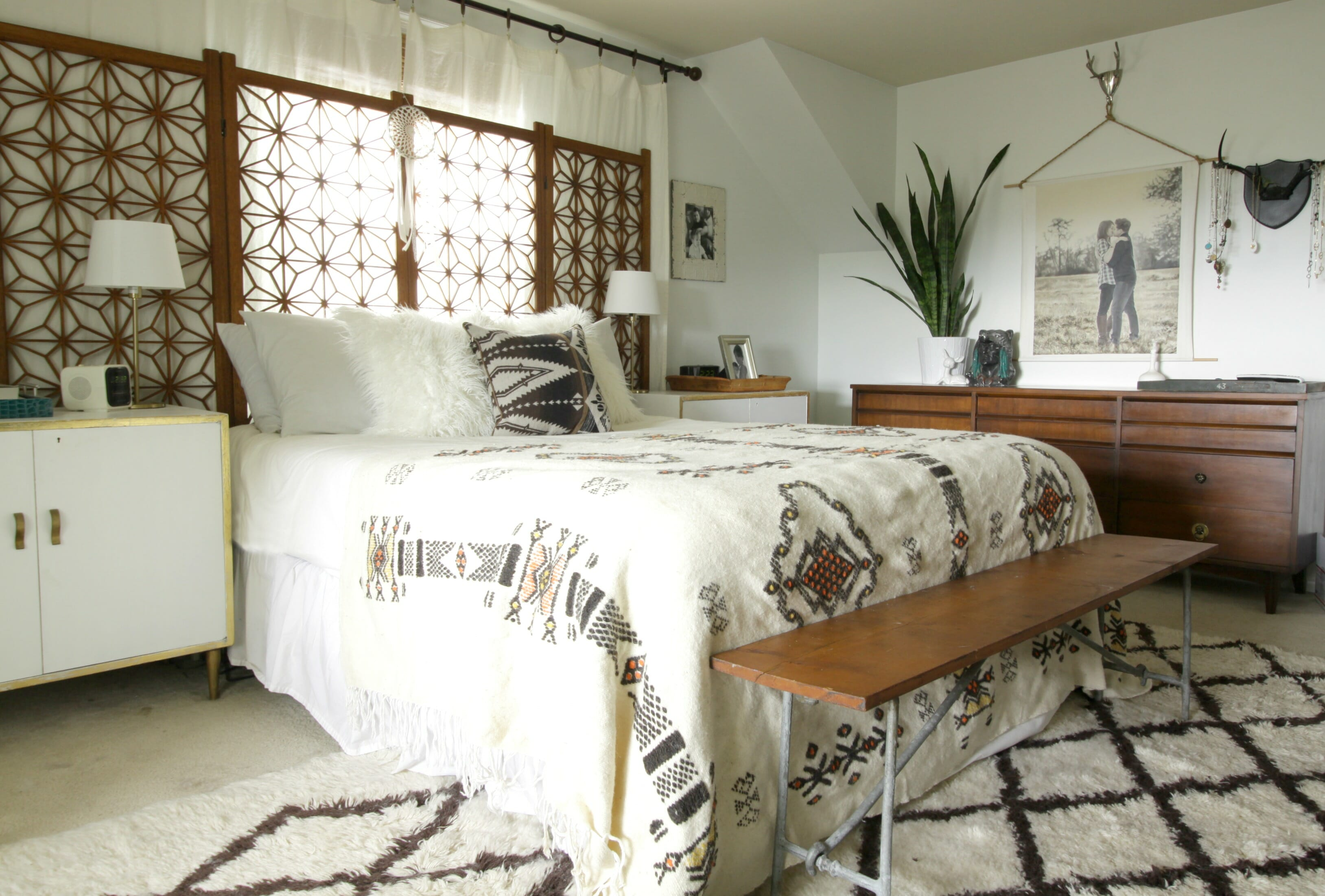 thrift score thursday boho bedding cassie bustamante 16240 | vintage modern boho bedroom