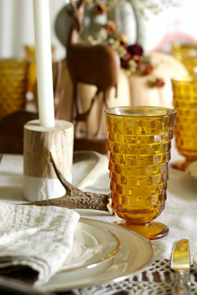 Vintage Amber Goblets for Fall