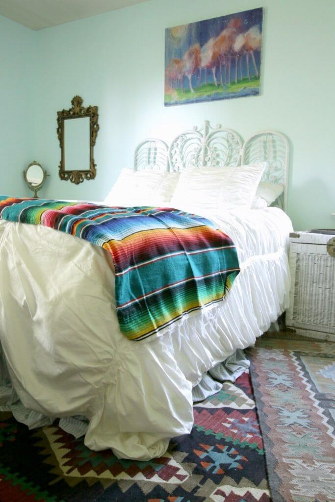 Aqua Boho Bedroom