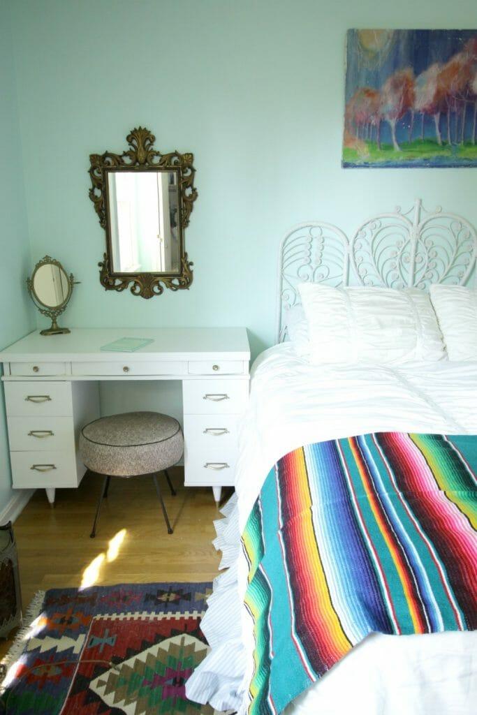 aqua-boho-bedroom-progress
