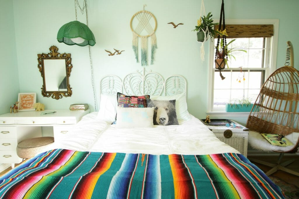 aqua-boho-tween-bedroom-progress