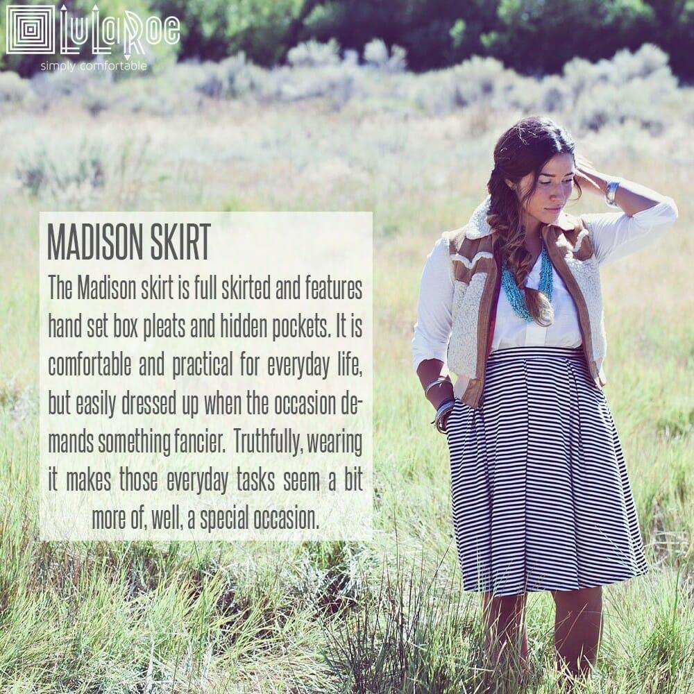 LuLaRoe Madison Skirt Description