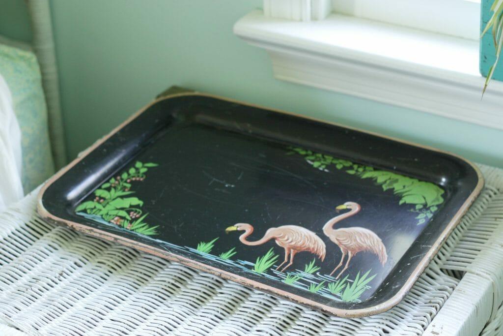 Vintage Flamingo Tray