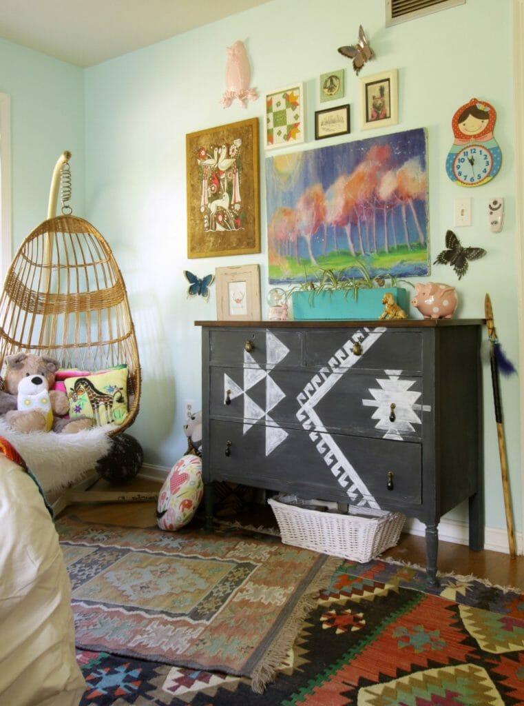 Eclectic Bohemian Girls Room