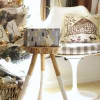 Inspired by DIY: Serena & Lily Dipped Stool