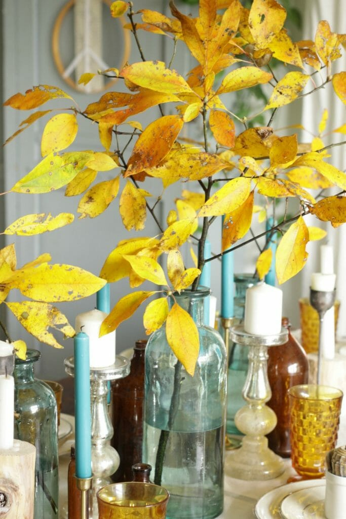 Fall Leaves on Dining Table