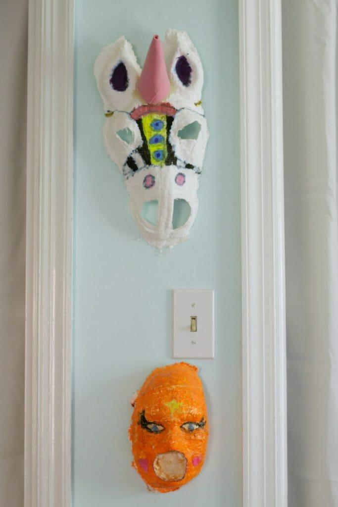 Masks in between doors