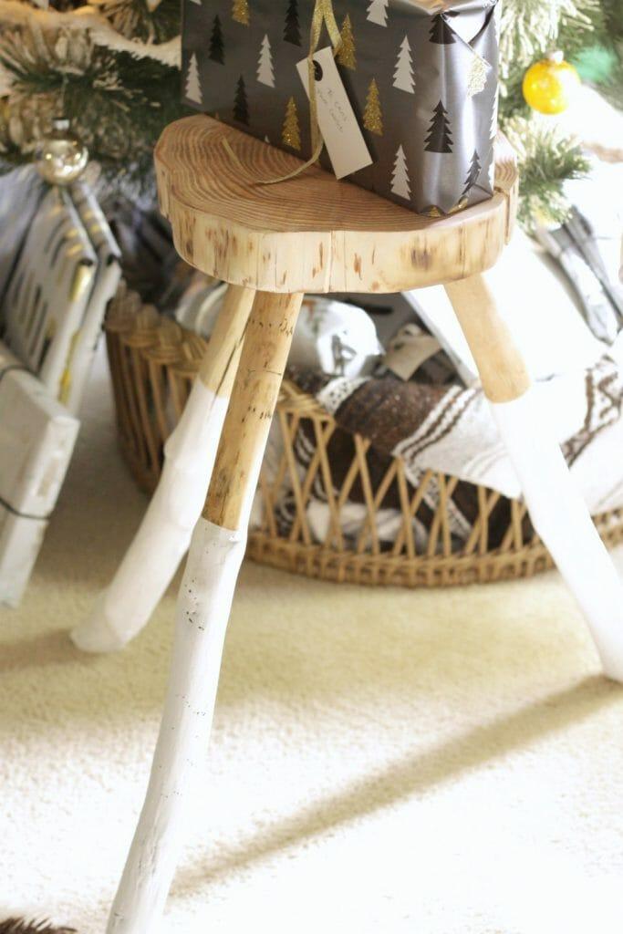 DIY Dipped Wood Stool