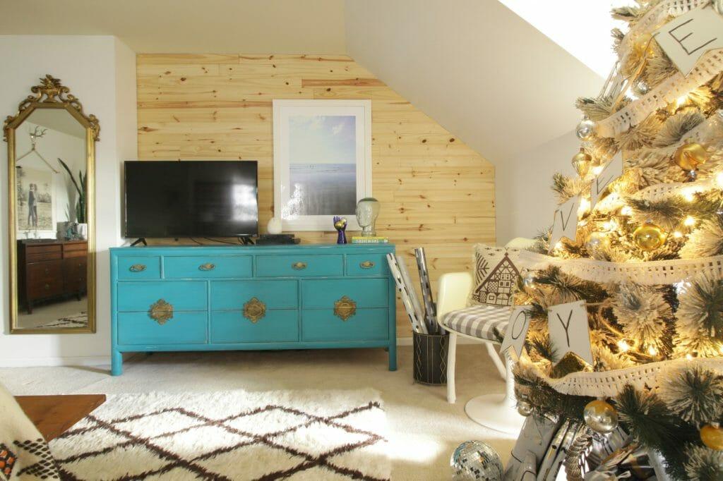Modern Boho Christmas Bedroom