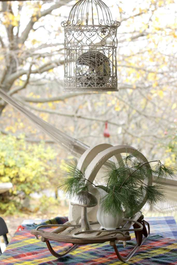 Eclectic Vintage Christmas Porch
