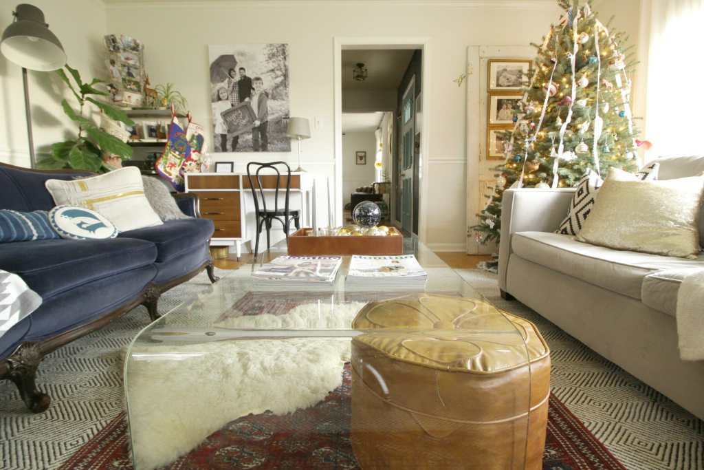 Eclectic Christmas Living Room