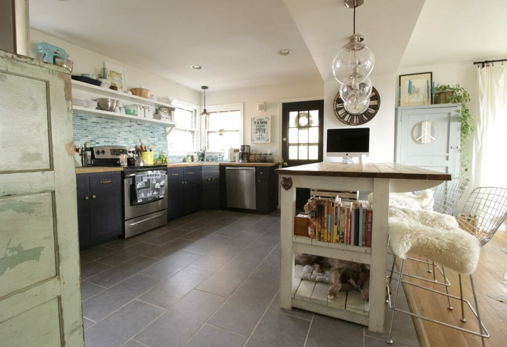 Eclectic Kitchen in Blues