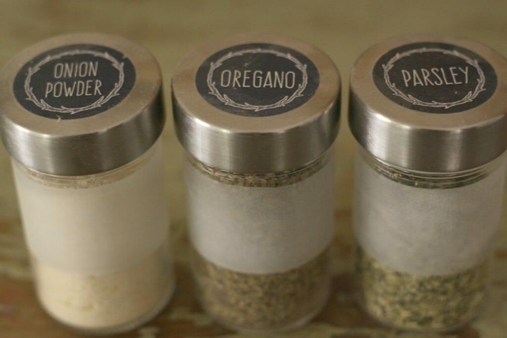 Spice Storage Labels
