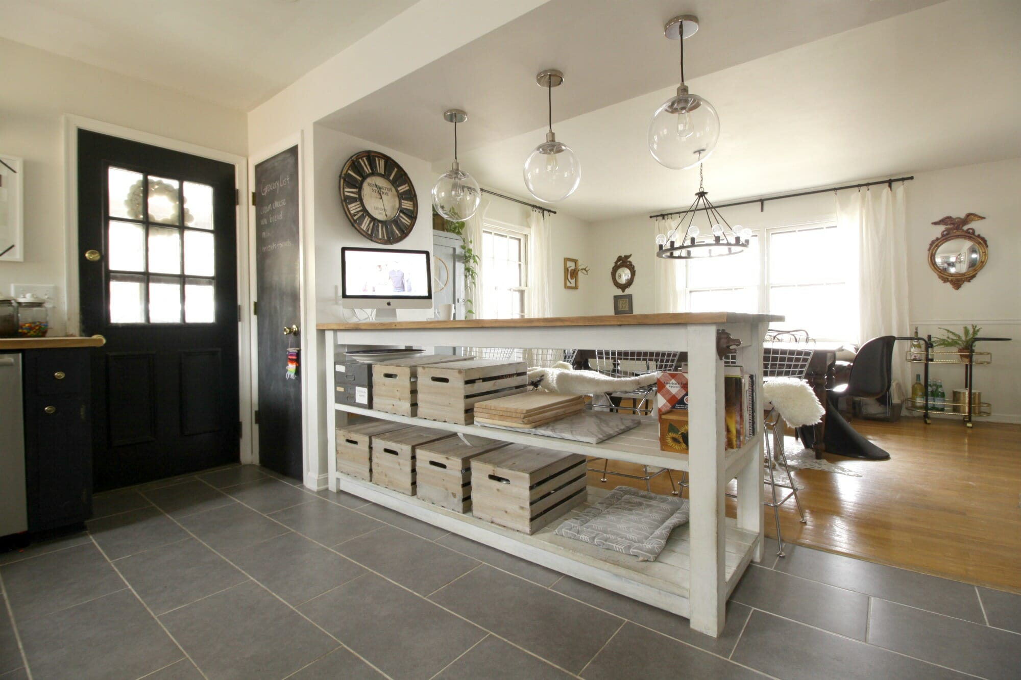 Industrial Kitchen Island With Storage from Crates & Pallets ...