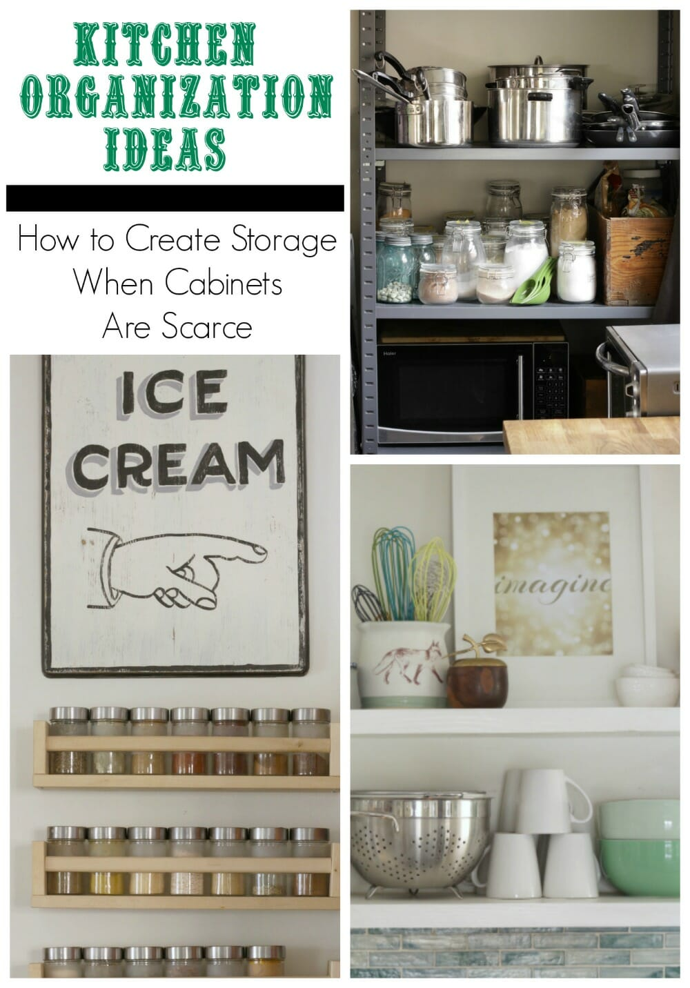 Kitchen Organization with Open Shelving - Cassie Bustamante