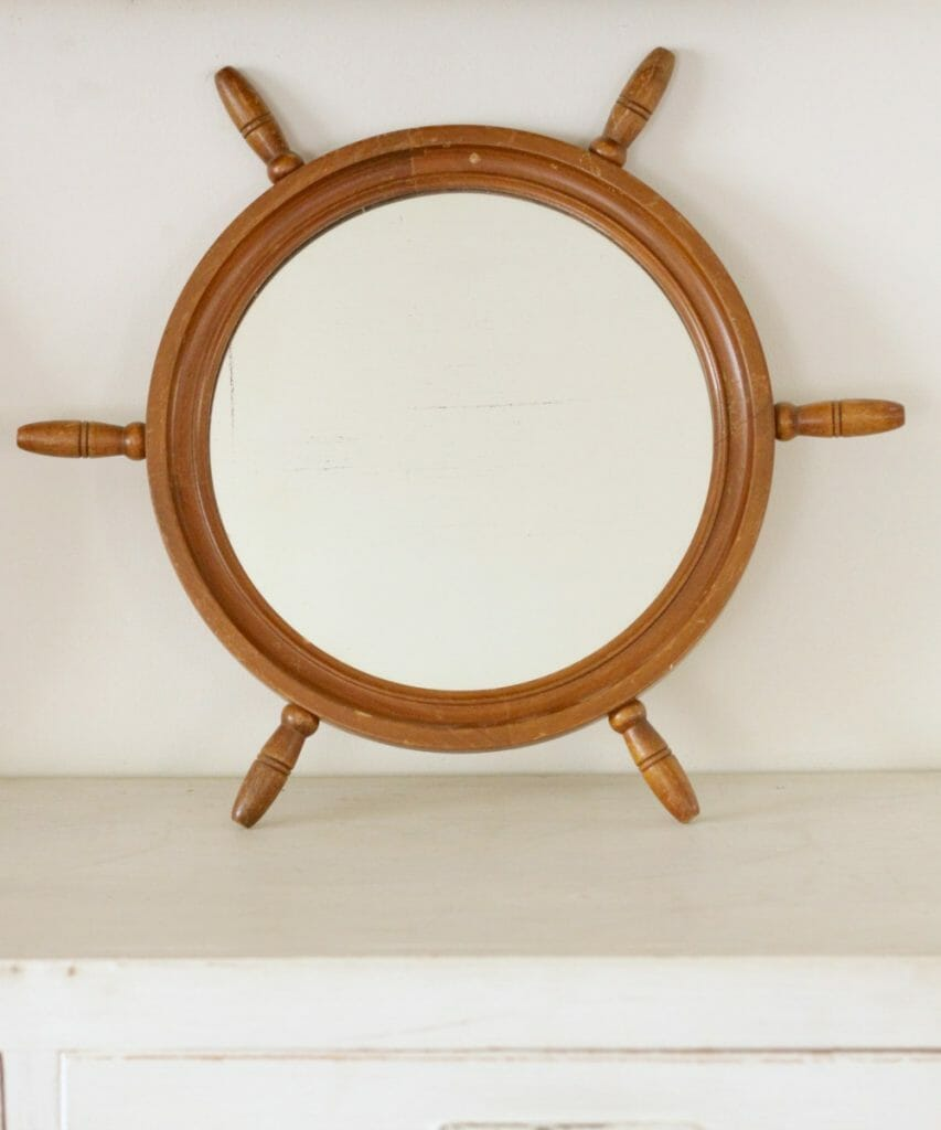 Cassie Bustamante Etsy Ship Wheel Mirror