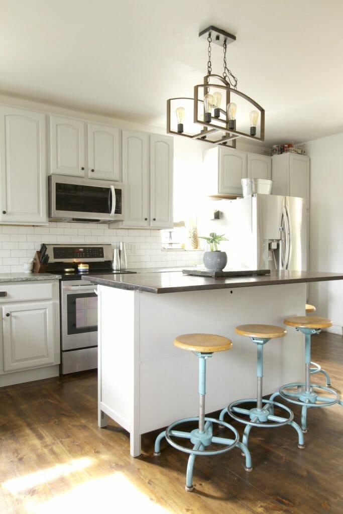 Gorgeous Gray Farmhouse Kitchen with DIYs and budget ideas