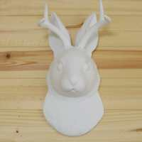 White Faux Taxidermy: The Jackalope