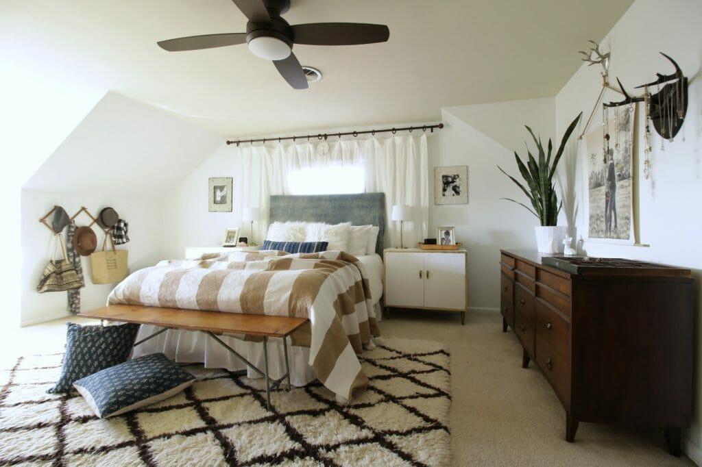Midcentury Modern Boho Bedroom