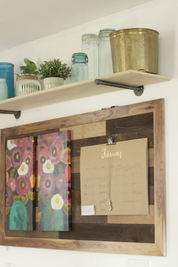 Reclaimed Wood Kitchen Command Center