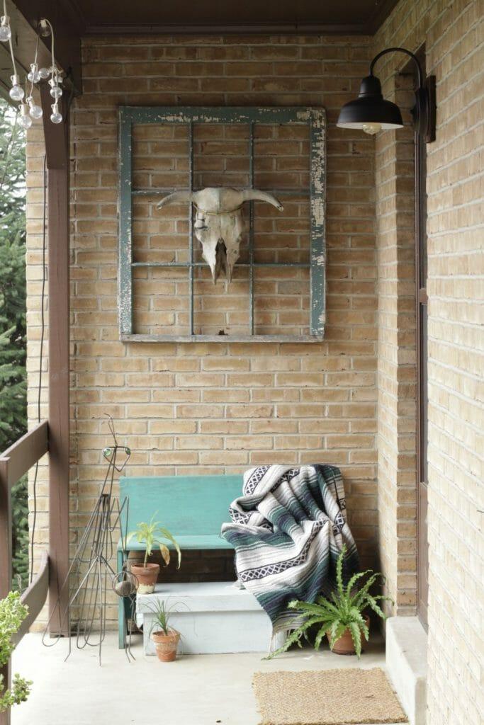 Boho Farmhouse Spring Porch Entry