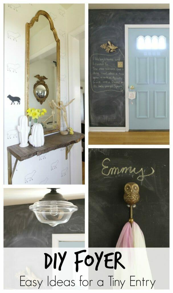 Easy DIY Ideas for a Small Foyer