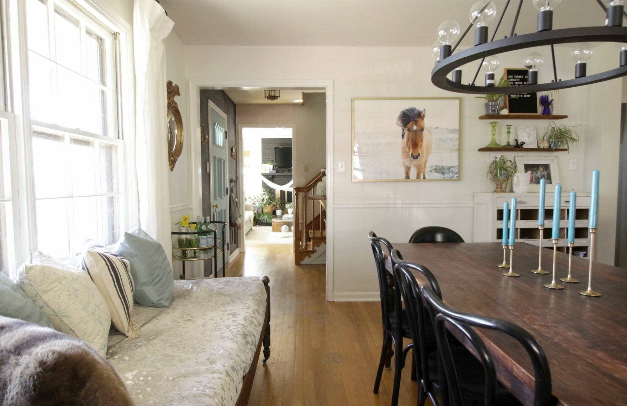 Modern Farmhouse Dining Room: Project Design Entry: Making The Most Of A Tiny Cape Cod