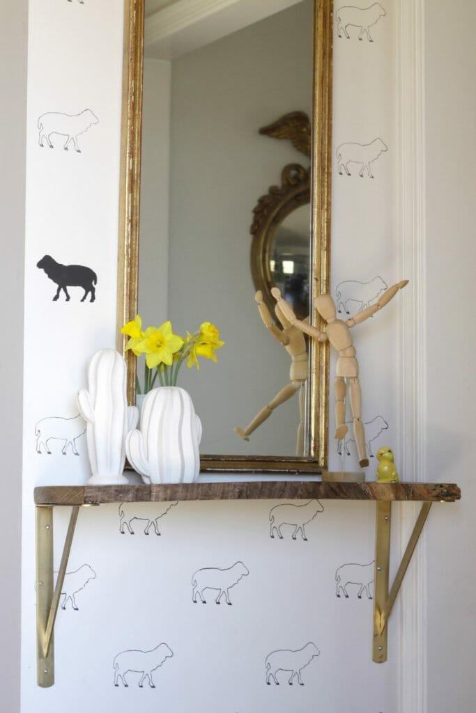 Simple Spring Shelfie Styling
