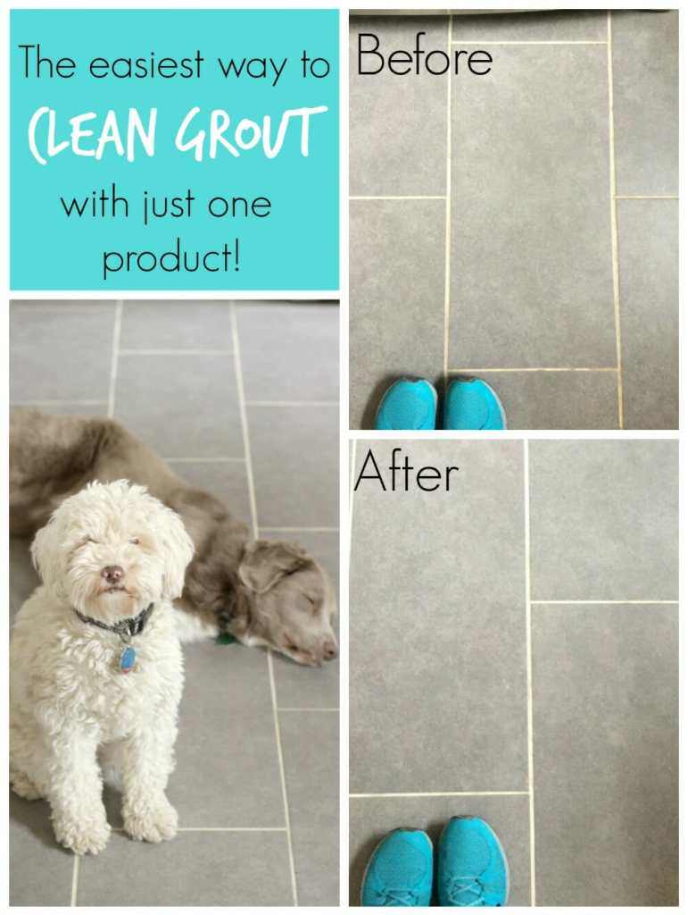 The easiest way to clean white grout