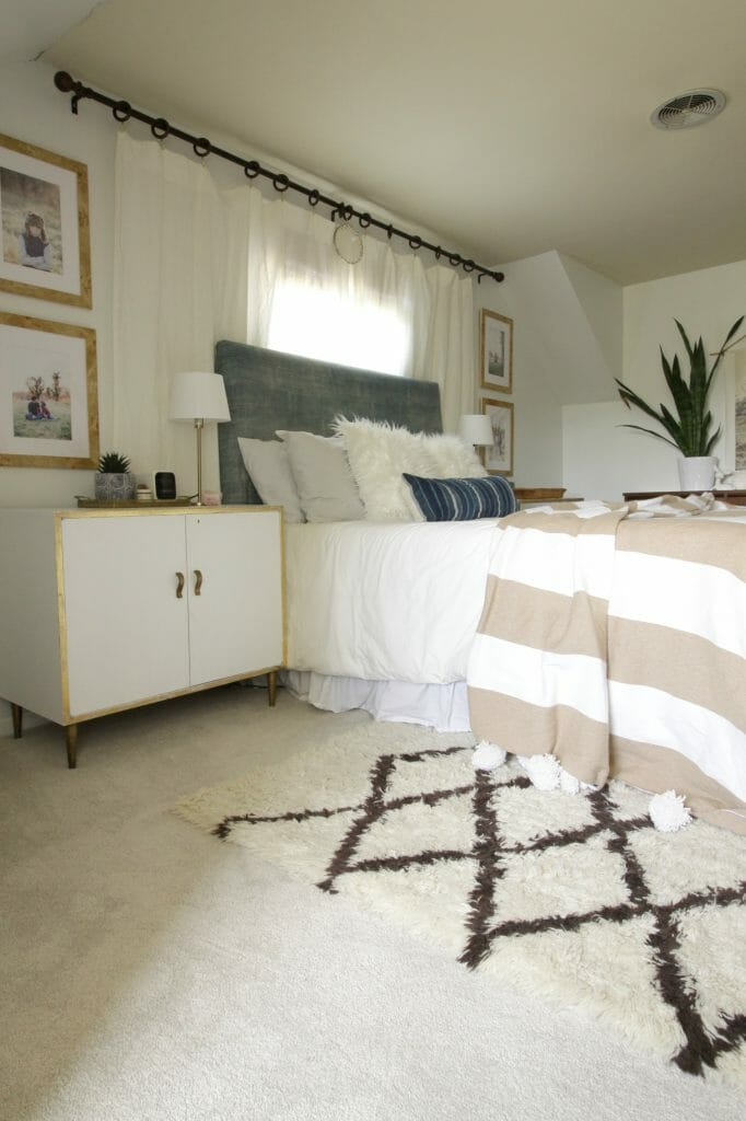 Dry Gourd PetProof Carpet in Neutral Modern Boho Bedroom