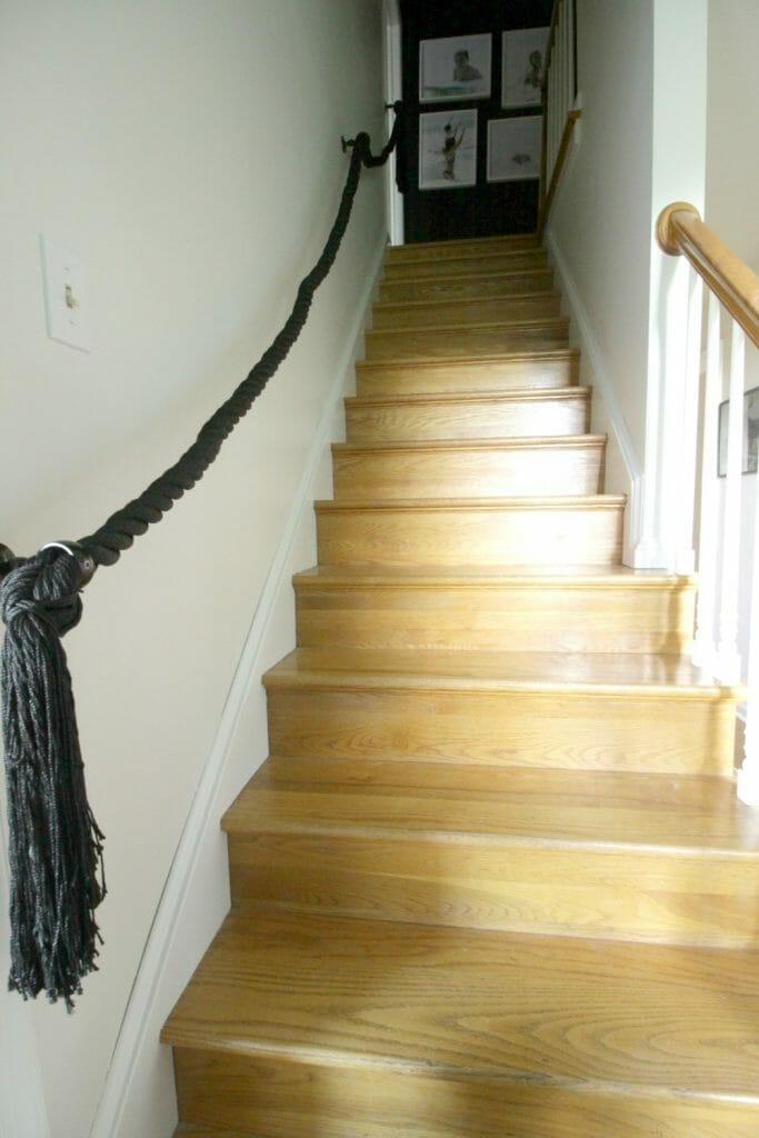 DIY Rope Railing with Tassels