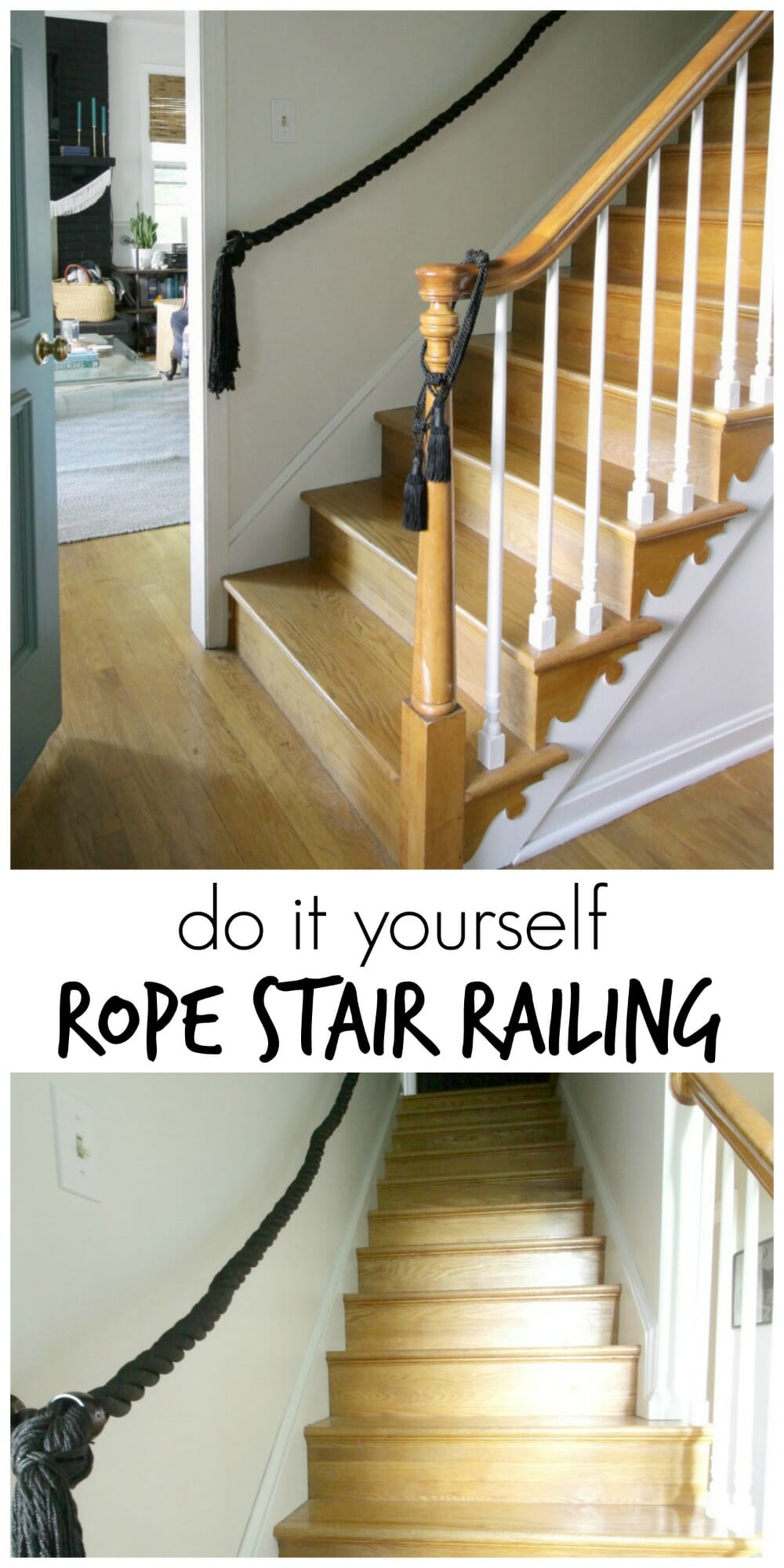 Attirant DIY Rope Stair Railing  Full Tutorial