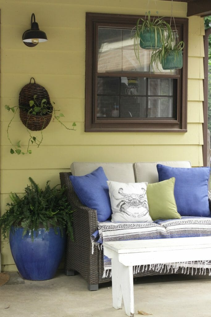 Boho Porch in Blue and Green for Summer