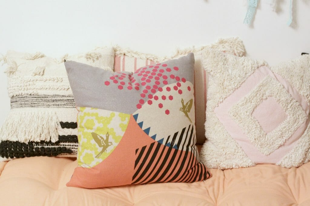 Janery Mountain Pinks Pillow