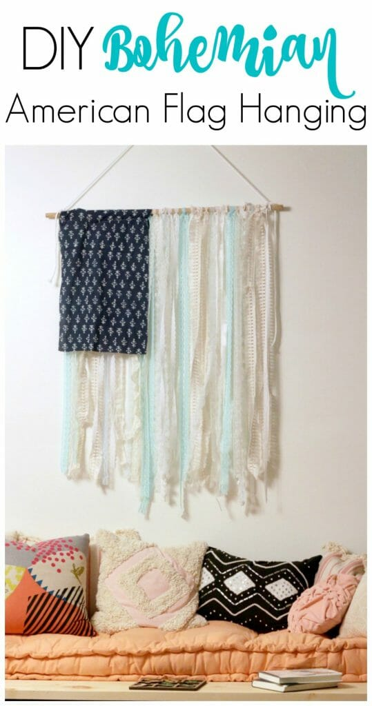 DIY Boho American Flag Hanging