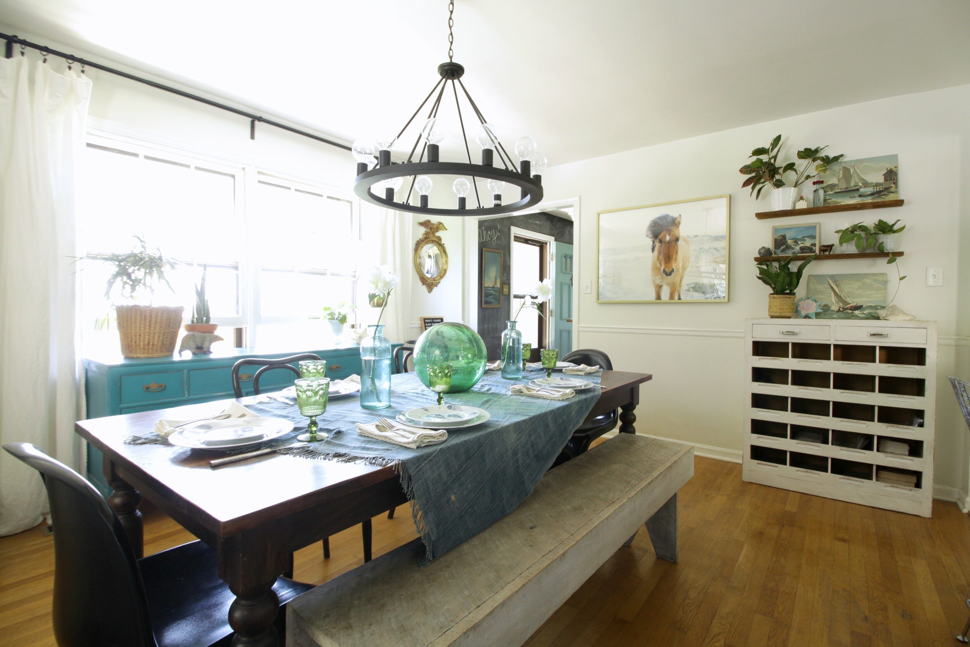 Modern Farmhouse Dining Room: Eclectic Summer Kitchen And Dining Room Tour