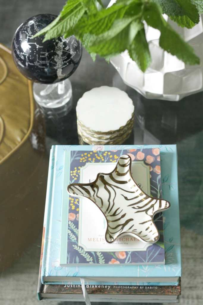Summer Glass Coffee Table Styling