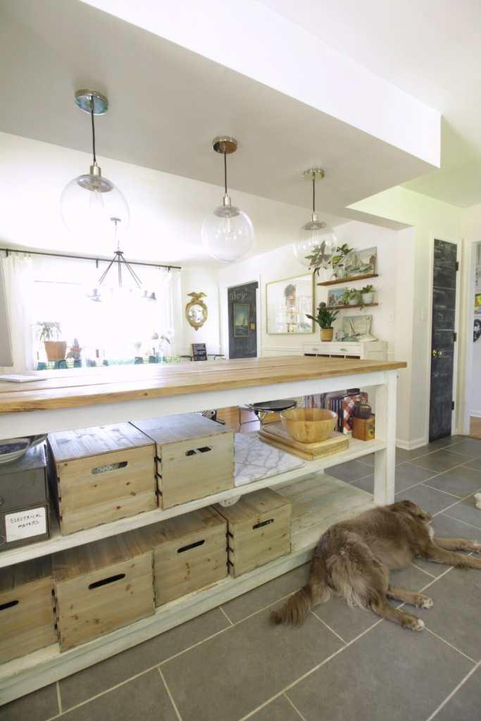 Vintage Industrial Kitchen Island