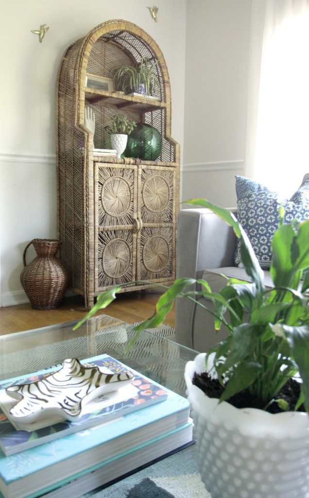 Thrifted Wicker Cabinet