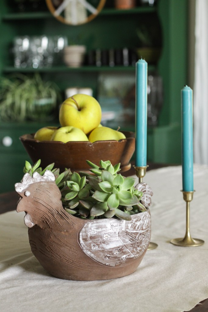 Fall dining room table scape